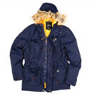 Navitas Outdoors Fishing Clothing SALE Daltrey Parka Blue Coat Winter Hood Men's