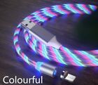 Light Up Magnetic Phone Charger LED Cable Adapter For iPhone Type C Micro USB