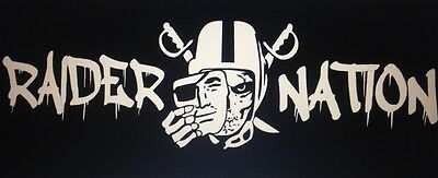 quotWhite Raider Nation Skull Stickerquot