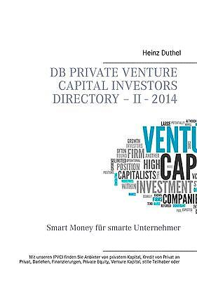 Heinz Duthel / DB Private Venture Capital Investors Directory  ... 9783735760982