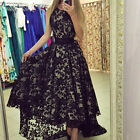 US Women Lace Long Formal Wedding Evening Ball Gown Party Prom Bridesmaid Dress