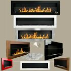 BIO ETHANOL FIREPLACE ALCOHOL ECO BURNER 1700 1400 1200 900 650 STAINLESS GLASS