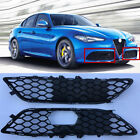Car Front Left and Right Side Grille Cover Mesh Frame Fit For Alfa Romeo Giulia