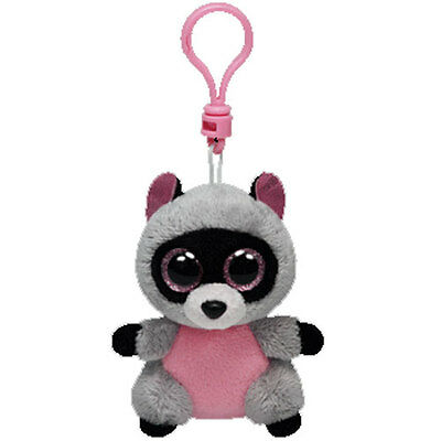 TY Beanie Boos ROCCO The Raccoon Plastic Key Clip 3