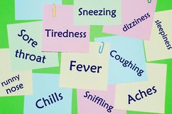 Symptoms of flu and cold Stock Images