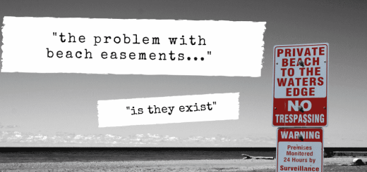 The Problem With Beach Easements