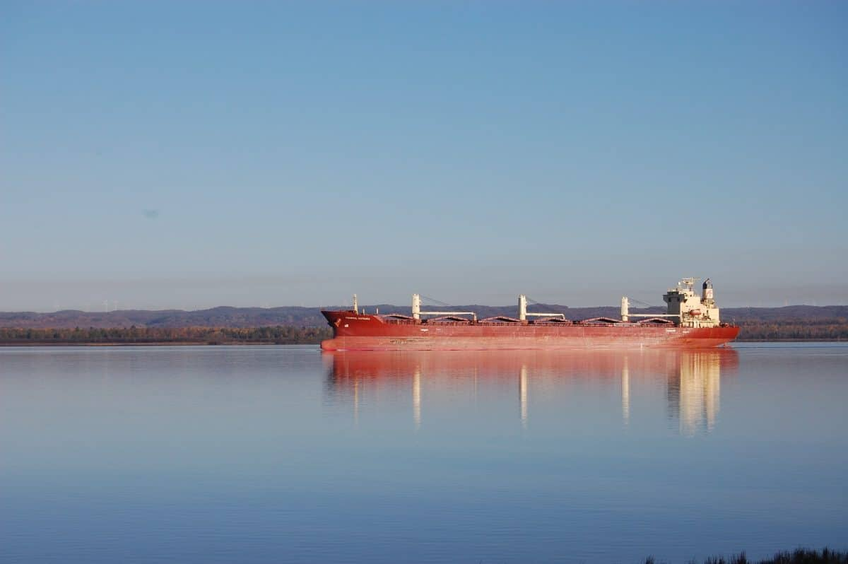 Great Lakes Freighter at St St. Marie