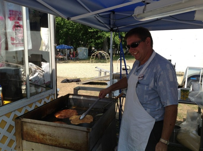 Cooking at the Bay Port Fish Sandwich Festival
