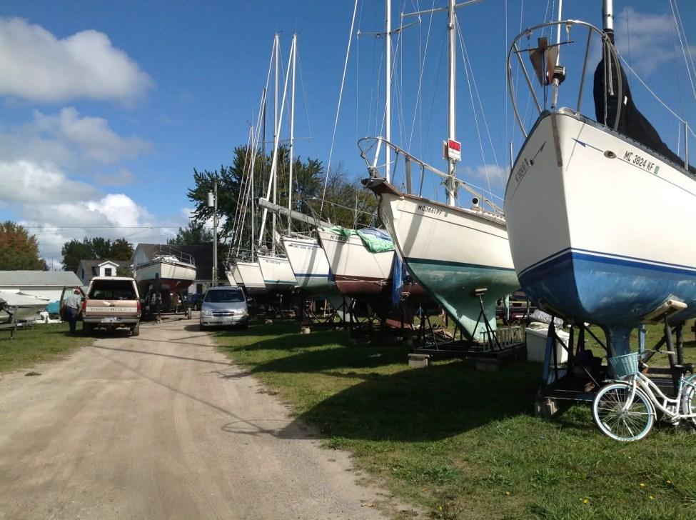 Sailboats on Cradles Caseville