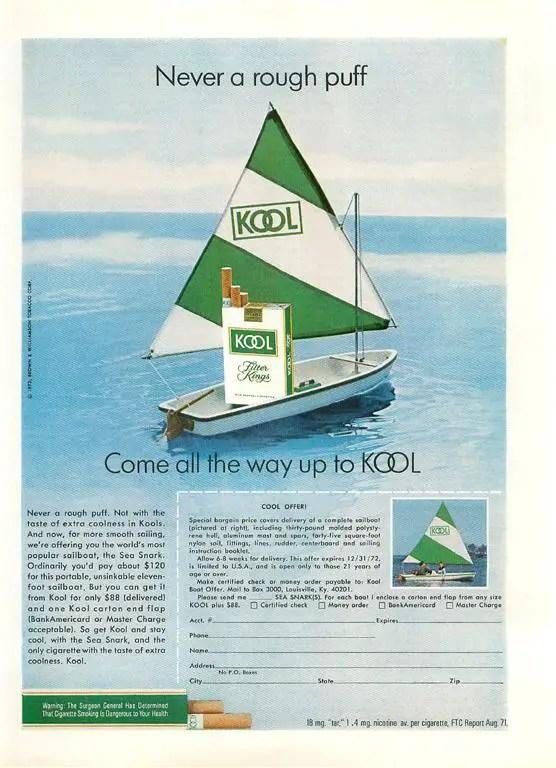 Kool Cigarette Sailboat Ad