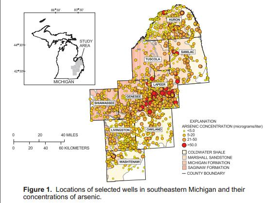 High Levels of Arsenic in Michigan Thumb Well Water