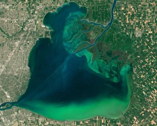 Algae Bloom Seen From Space - Great Lakes Algae