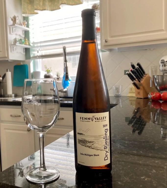 Fenn Valley Dry Riesling -Michigan Wine Tasting