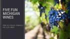 Five Fun Michigan Wines Title