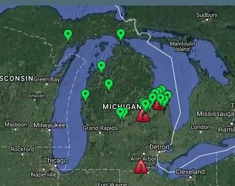 Michigan Wind Farm Map Sample