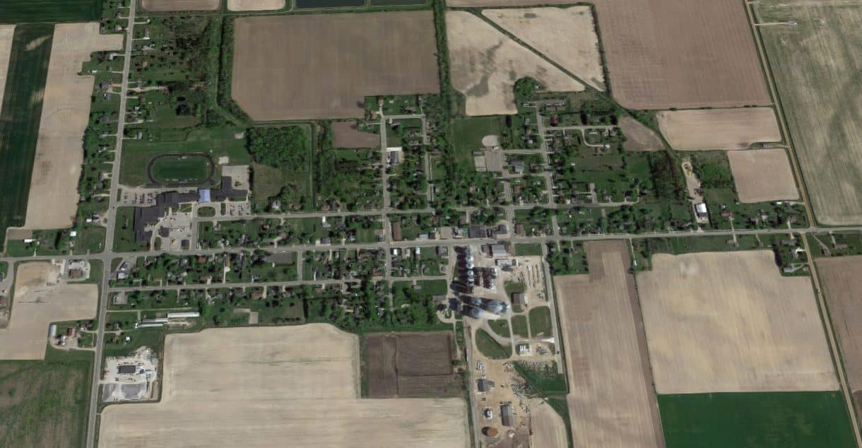 Kinde, Michigan from the Air
