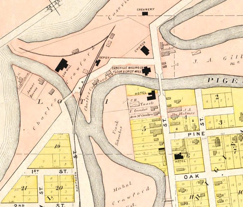 Caseville's Industrial Area of 1881