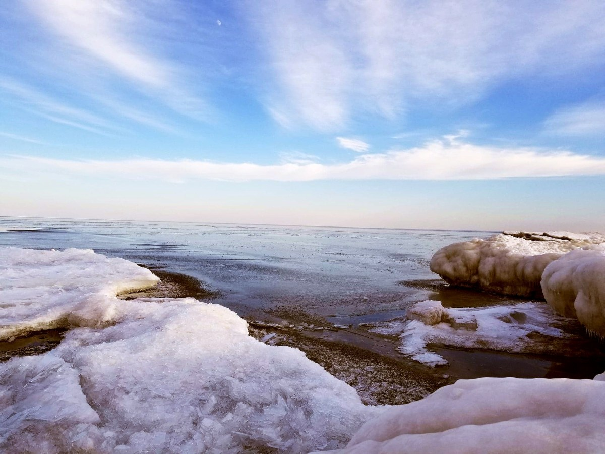 Amazing Lake Huron Ice Walk Video Goes Viral
