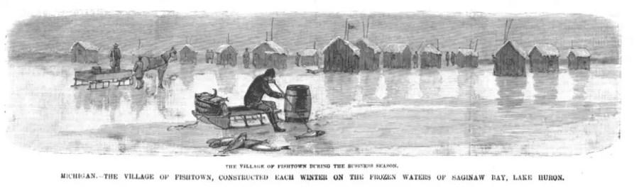Fishtown on Saginaw Bay, Lake Huron