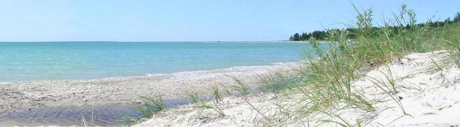 Iron Ore Bay in southern Beaver Island,