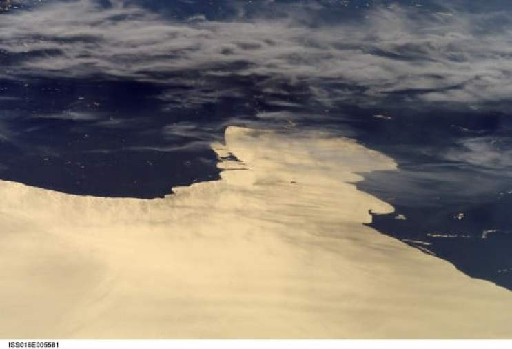 Charity Island  and Saginaw Bay from Space