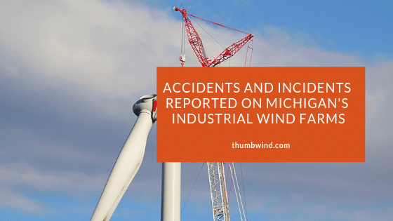 Michigan Wind Farm Accident Map