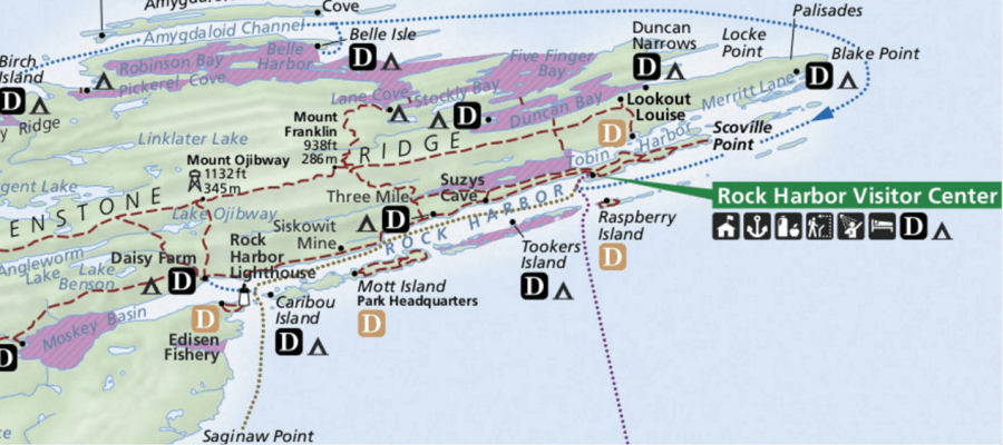 Map of Rock Harbor