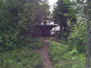 Shelter on Isle Royal near Rock Harbor