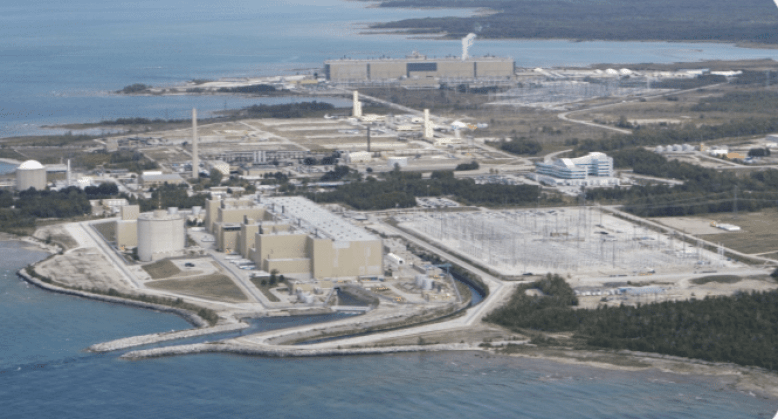 Bruce Nuclear Power Plant in Ontario Canada