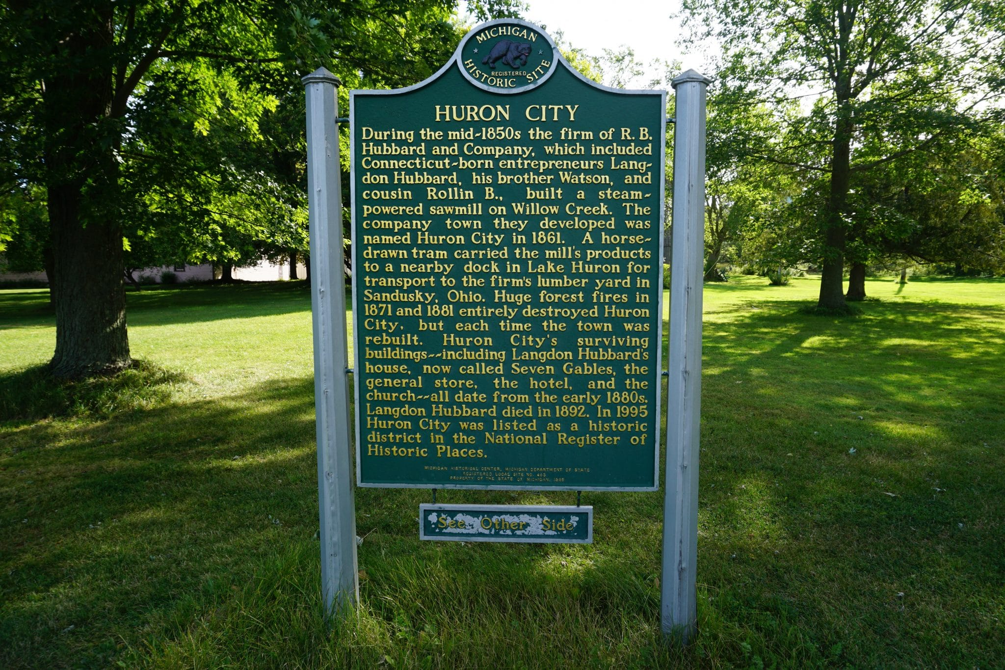 Huron City Historic Sign