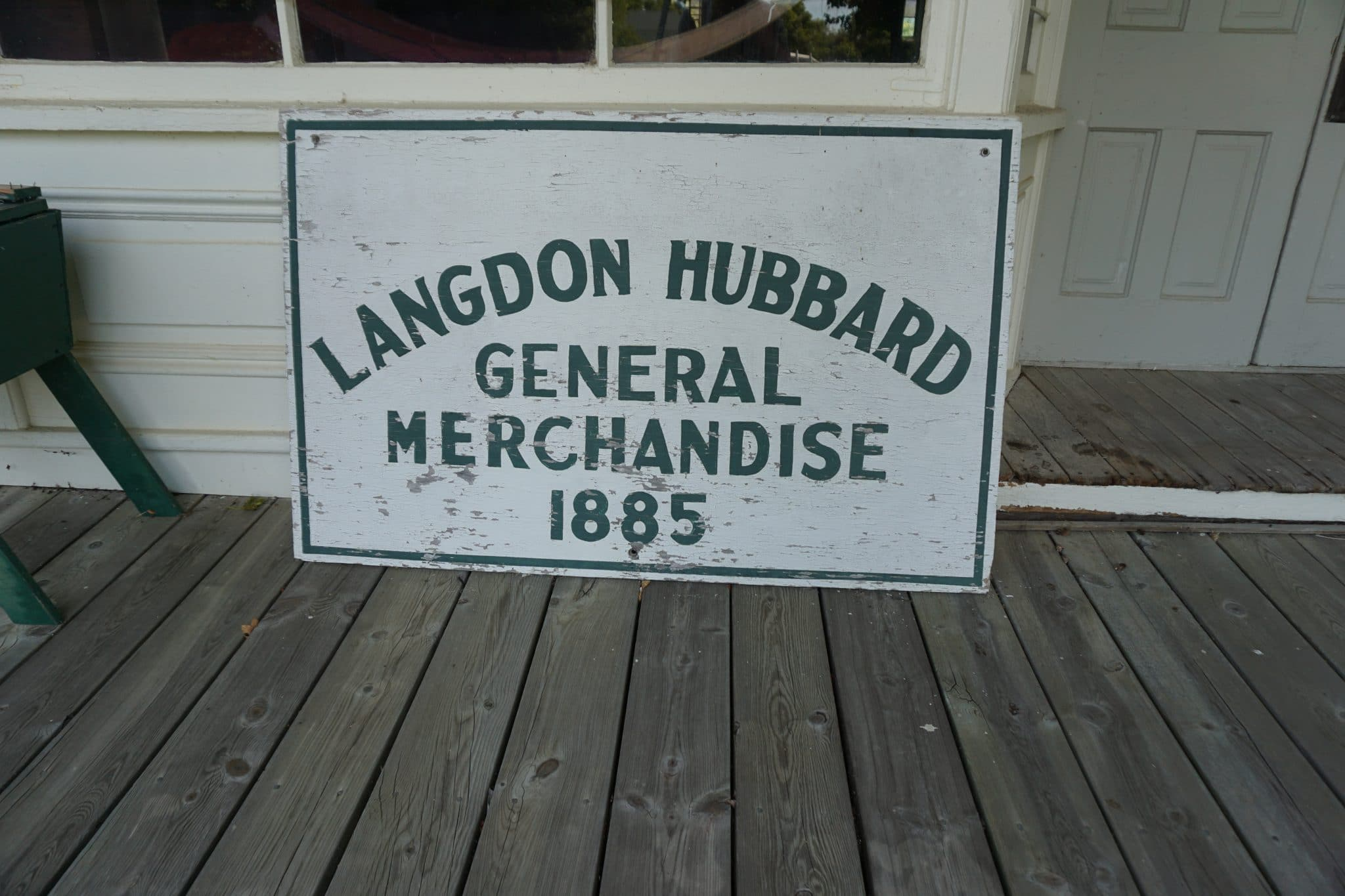 General Store Sign 1885
