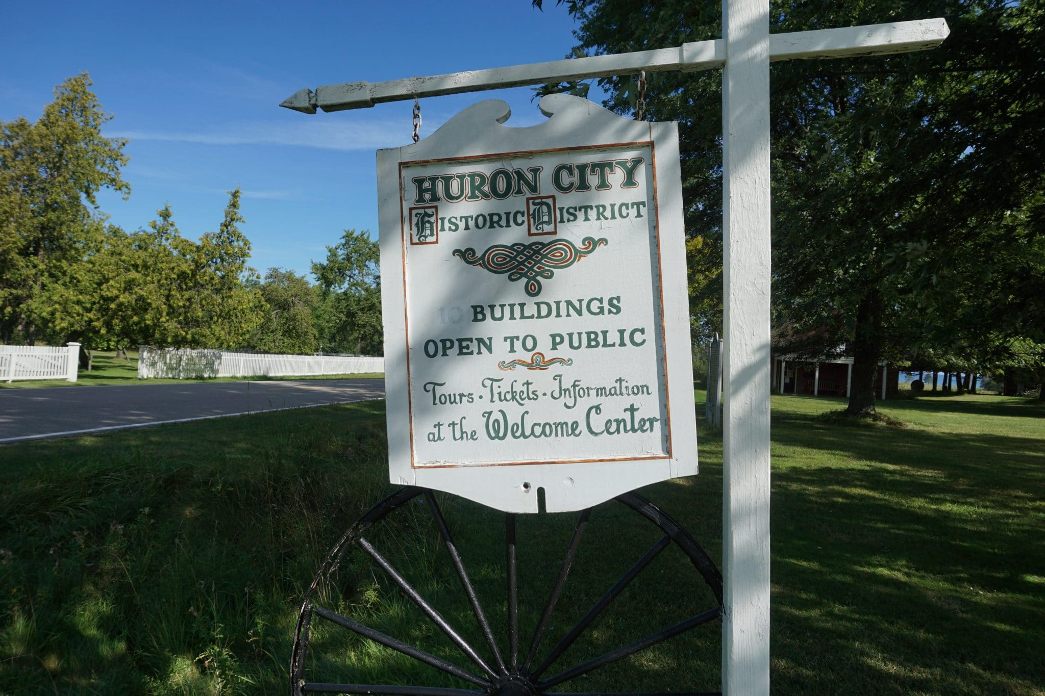 Huron City Welcome Sign
