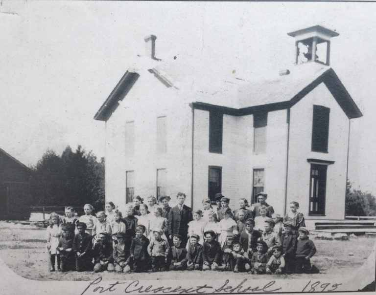 Port Crescent School House - Now the site of a Ghost Town