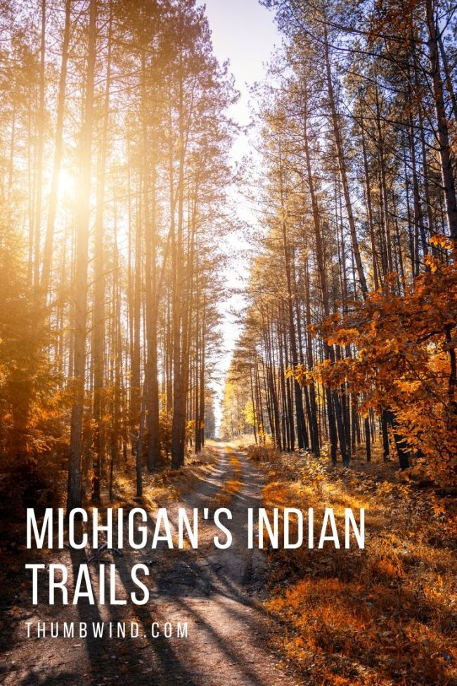 For thousands of years, Native Americans crisscrossed Michigan on a system of trails that were in tune with the land and so perfectly placed that the routes are still in use today by our highways and state roads.  The #Michigan Indian Trails were part of the Great Trail network, a trade route that extended hundreds of miles to the eastern seaboard.