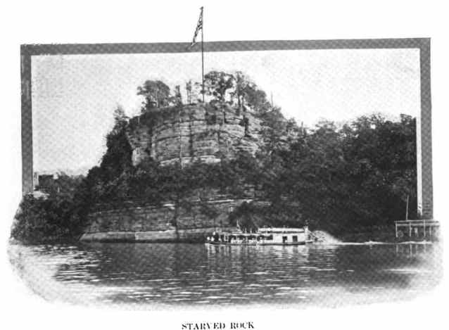 Starved Rock and Ferryboat in 1914