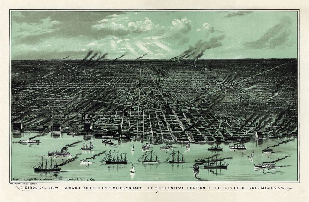 Detroit Michigan in the late 1800s