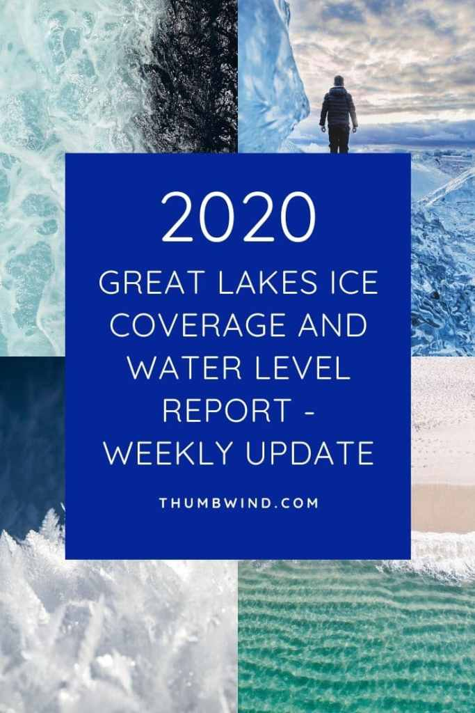 2020 Great Lakes Ice Coverage and Water Level Weekly Update. With the Great Lakes at record high levels ongoing monitoring is critical  for those with shoreline property, sports fishermen and boaters. Weekly ice coverage updates from NOAA and monthly water level reports from the Army Corps of Engineers - Detroit District