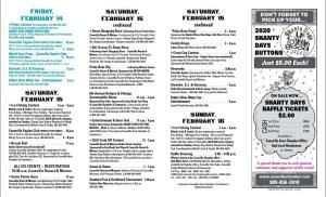 2020 Caseville Shanty Days Schedule