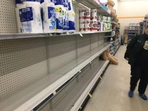 Empty Shelves 2020 Pandemic Panic