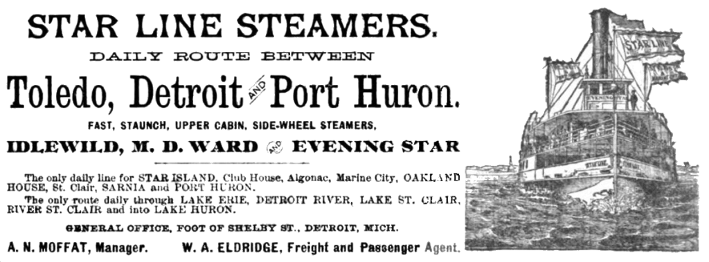 Sidewheeler  Steam Ships - The Star Line