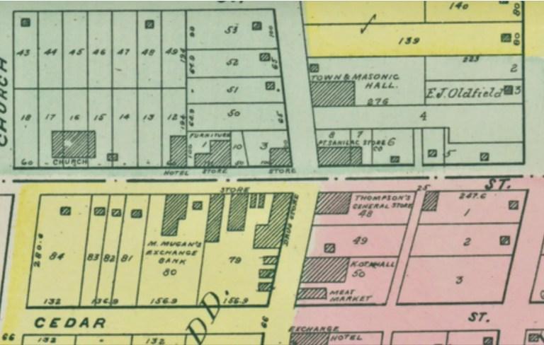 Port Sanilac Plat Map Downtown