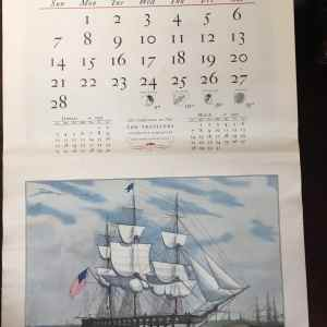 Currier & Ives 1971 Wall Calendar by Travelers Insurance