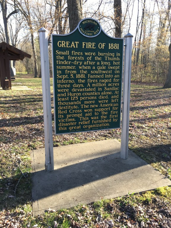 The Great Fire of 1881 Marker