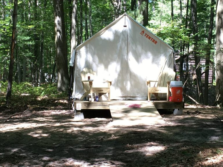 Michigan Glamping Safari Tent at Sleeper State Park