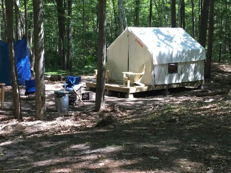 Michigan Glamping Safari Campsite at Sleeper State Park