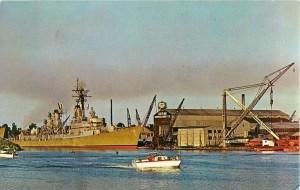 Postcard of Defoe Shipbuilding Company Bay City Michigan