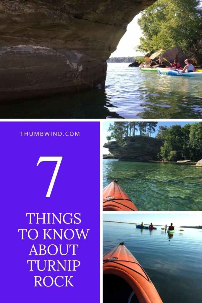 Paddling to turnip rock is not hard. Located at the tip of the thumb, it's about a four hour round trip from Port Austin.  This small guide offers a local point of view to avoid problems with the local law enforcement and property owners while being able to enjoy a unique natural wonder.