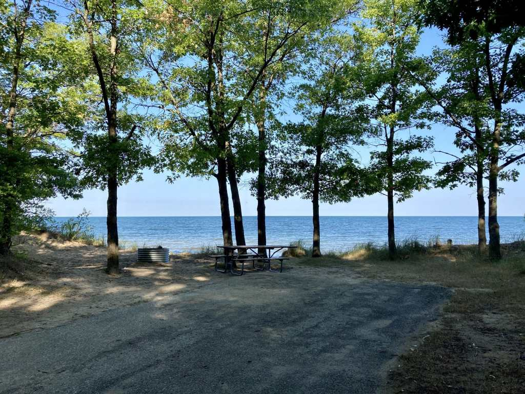 Port Crescent State Park Campground Site 70 - motorhome rental Michigan