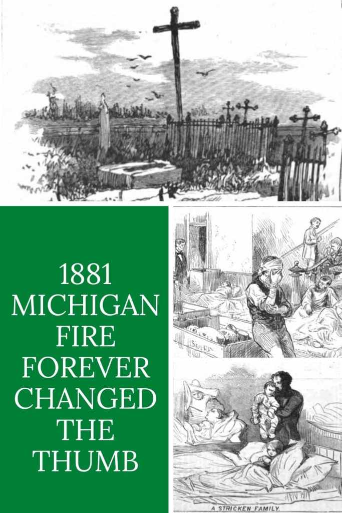 The fires of September 4th though the 6th 1881, commonly known as the #Michigan Thumb Fire, took hundreds of lives and burned well over one million acres.  #PureMittenPride #MittenStateLove #GreatLakesState #PureMichigan #MichiganLove #History #MIHistory