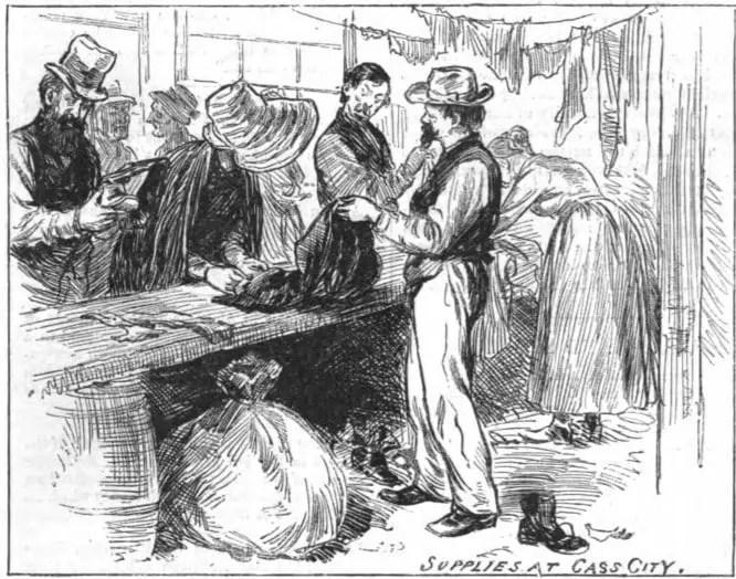 Great Michigan Fire 1881- Supplies in Cass City